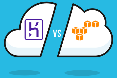 Heroku vs AWS illustration featured image.
