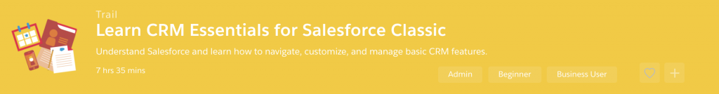 Salesforce training trailhead module