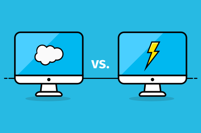 Salesforce Lightning vs Classic featured image.