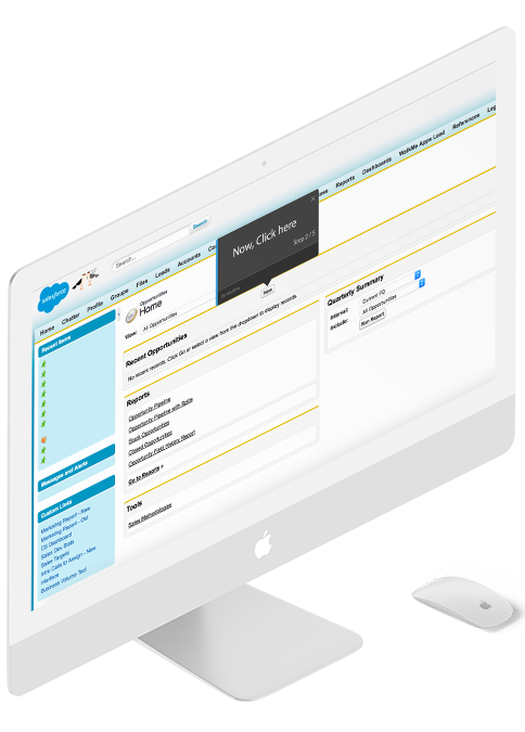 Walkme salesforce training platform.